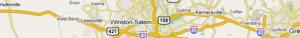 Highway Map of Winston-Salem Area
